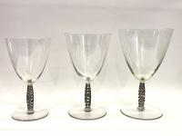 """Service """"Dornach"""" verre blanc patiné gris de René LALIQUE - 36 pièces"""