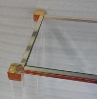 1970′ Console Altuglass Signée Pierre Vandel 113 X 38 X H 75 cm