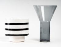 Vase Contemporain en Céramique et en Verre