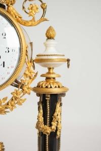 A Louis XVI period (1774 - 1793) portico clock.