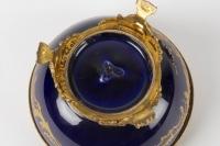 Bonbonnière en porcelaine de Sèvres et bronze 19e siècle