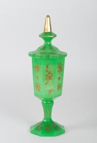 Coupe couverte en opaline Napoléon III 19e siècle