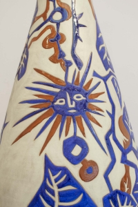 Grand vase balustre en céramique par Jean Lurçat (1892 - 1966)