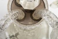 Girandole en cristal à 4 bras de lumière, vers 1920