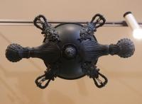 Lustre en bronze Néoclassique du XIXème formant lampe à huile.