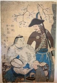 China and Russia (Nankin, Oroshiya) - Utagawa Hiroshige II