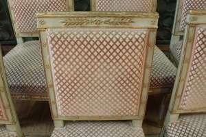 Série de 9 chaises de style Empire