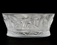 """Coupe """"Jungle"""" cristal incolore - neuve avec étiquette - de LALIQUE FRANCE"""