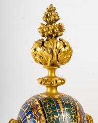 Vase pot-pourri à décor pompéien, Barbedienne A.H. Constant Sevin, XIXème siècle