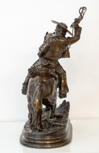 Cavalier Mexicain Au Lasso Par Alfred Dubucand (1828-1894)