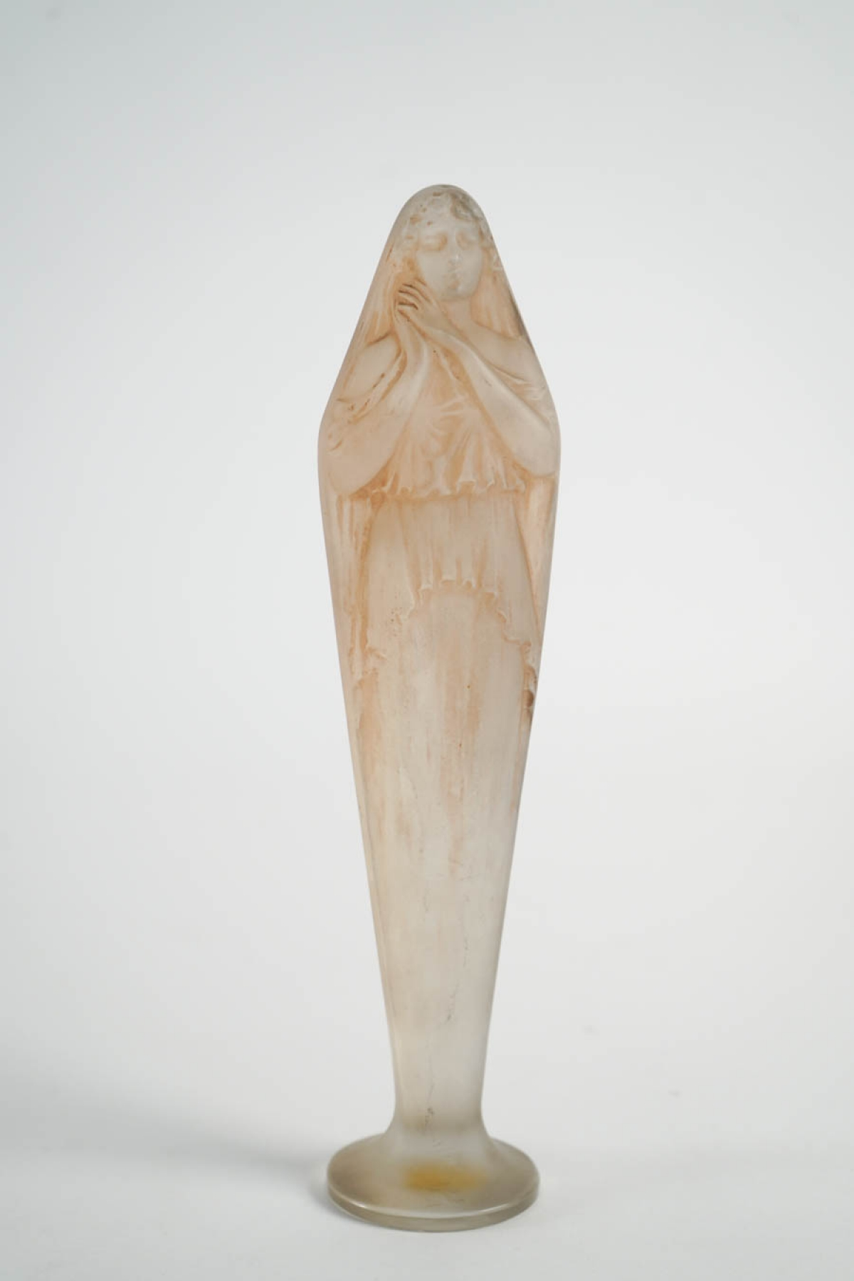 "Rene Lalique Statuette ""Voilee Mains Jointes """