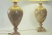 Paire de lampes en marbre