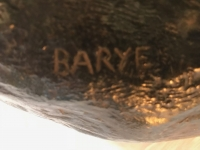 Bronze, panthère dévorant une antilope. Signé Barye. Ref: 42.
