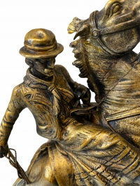 Sculpture d'un cavalier par Victor Chemin (1825-1901)