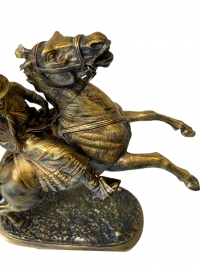 Sculpture d'un cavalier argentin par Victor Chemin (1825-1901)