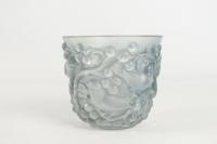 """René Lalique Vase """"Avallon"""" patiné Bleu"""