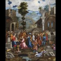 Adoration des Mages – Ecole génoise, entourage de Battista Castello fin du XVIème siècle.