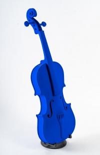 Violon bleu signé Mickael (pièce unique), XXIème siècle