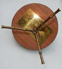 1970' Serviteur en Bronze Avec Galerie Modele Bambou Maison Bagués