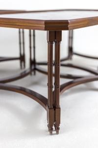 Madeleine Castaing, Table basse en placage d'acajou, années 1950