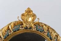 Miroir de toilette ovale XIXe Napoléon III