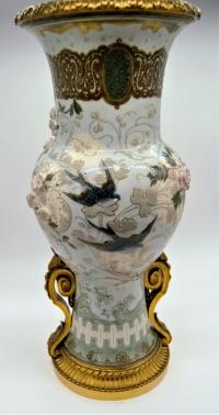 Albert Dammouse (1848-1926) Atelier à Sevres - Vase En Pâte-sur-pâte