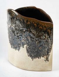 Yvon Le Douget - Grand vase modelé en grès émaillé. Années 2000