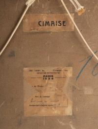 """""""Environs de Cannes"""" Elisabeth Dodel, XXème  ( antérieur à 1914 )"""