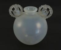 """René Lalique Opalescent Vase """"Ronsard"""""""