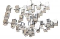 Gaetano Sciolari, Lustre chromé « Cubic » à 37 lumières, 1970