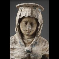 L'Education de la Vierge. Pierre sculptée, Est de la France avant 1550.