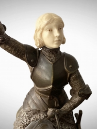 Chryséléphantine - Jeanne d'Arc à Cheval Par F. Lemoyne