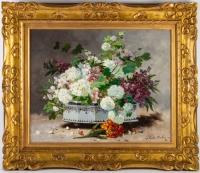 Charles Gilbert-Martin 1839-1905. Fleurs dans une jardinière.