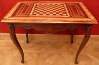 Table A Jeux Ancienne 18è Siecle Style Louis XV En Noyer