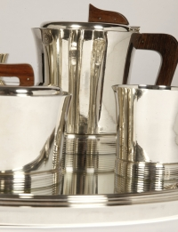 "Set tea coffee in silver by JEAN E. PUIFORCAT  Modèle  ""DEAUVILLE"""