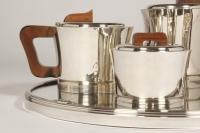 """Service thé café en argent par JEAN E. PUIFORCAT  Modèle  """"DEAUVILLE"""""""