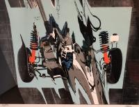 CESAR Déformation de Formule 1 Lithographie signée numéro 67 / 80