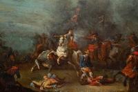 Choc De Cavalerie Attribué à Philips Wouwerman(1619-1668)