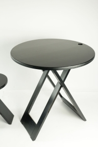 Talon Roger ensemble d'appoint:table et tabouret