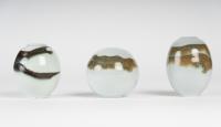 Charles Hair - Petits vases en porcelaine émaillée