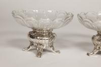 Paire de coupes en argent et cristal BACCARAT par GUSTAVE ODIOT