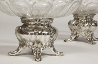 Pair of silver cups and BACCARAT crystal by GUSTAVE ODIOT
