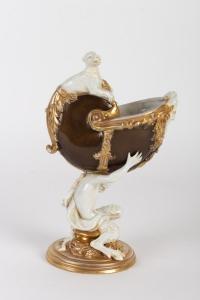Nautile en céramique 19e