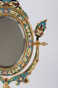 Miroir en bronze doré 19e Napoléon III