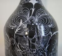 Jacques de  Chateneuil dit Jacques Massard, Poterie de la Brague, Vase en faïence à décor de nymphes