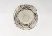 Coupe « Senlis » verre blanc émaillé noir d'origine de René LALIQUE