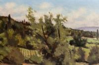 Tableau paysage provençal de André TZANCK (1899-1990)