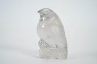 """LALIQUE RENÉ (1860-1945) Paire de moineaux décoratifs """"Bellecour"""""""