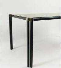 Table basse Maison Honore des années 1960 Dalle de verre églomisé