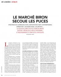 Le Marché Biron secoue les Puces - Article de la Gazette Drouot du 18 mai 2018